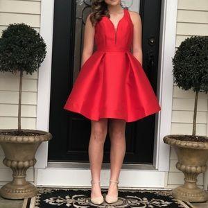 Jovani 53360 size 4 red homecoming dress